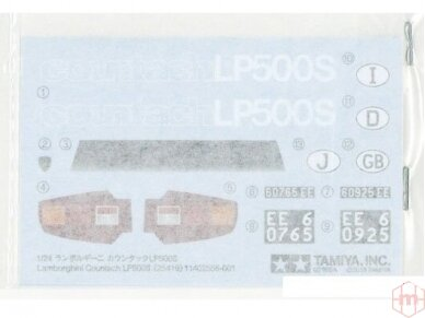 Tamiya - Lamborghini countach LP500S, Mastelis: 1/24, 25419 6