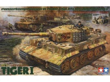 Tamiya - Late Version Tiger I su įgula, Mastelis: 1/35, 25401
