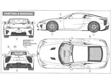 Tamiya - Lexus LFA, Mastelis: 1/24, 24319 14