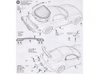 Tamiya - Mazda RX-7 R1, Mastelis: 1/24, 24116 14