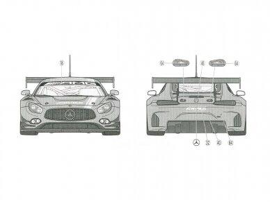 Tamiya - Mercedes AMG GT3, Mastelis: 1/24, 24345 15
