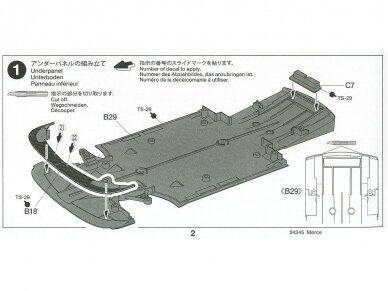 Tamiya - Mercedes AMG GT3, Mastelis: 1/24, 24345 17
