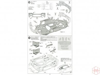 Tamiya - Mercedes AMG GT3, Mastelis: 1/24, 24345 21