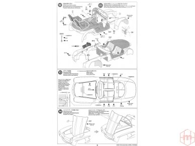 Tamiya - Mercedes-Benz 300 SL, Mastelis: 1/24, 24338 16