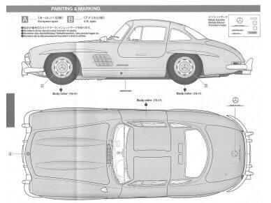Tamiya - Mercedes-Benz 300 SL, Mastelis: 1/24, 24338 10
