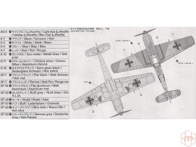 Tamiya - Messerschmitt Bf109 E-3, Mastelis: 1/72, 60750 5