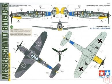 Tamiya - Messerschmitt Bf109 G-6, Mastelis: 1/48, 61117 14