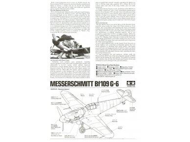 Tamiya - Messerschmitt Bf109 G-6, Mastelis: 1/48, 61117 5