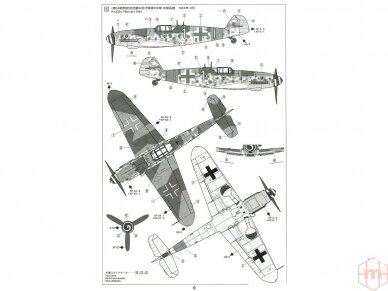 Tamiya - Messerschmitt Bf109 G-6, Mastelis: 1/72, 60790 9