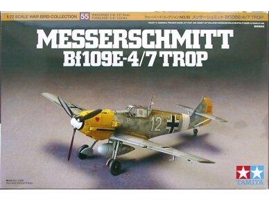 Tamiya - Messerschmitt Bf109E-4/7 Trop, Mastelis:1/72, 60755