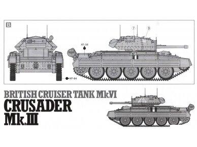 Tamiya - Mk.VI Crusader Mk.III, Mastelis: 1/35, 37025 8
