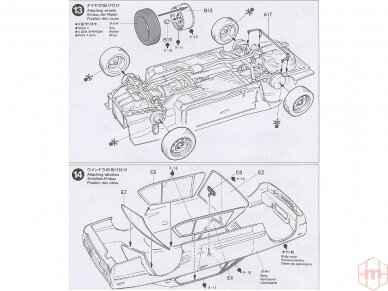Tamiya - Nissan Skyline 2000 GT-R, Mastelis: 1/24, 24194 15