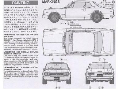 Tamiya - Nissan Skyline 2000 GT-R, Mastelis: 1/24, 24194 9