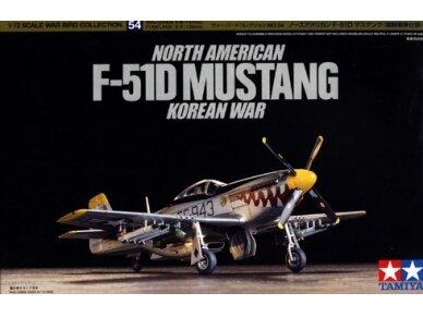 Tamiya - North American F-51D Mustang, Mastelis: 1/72, 60754