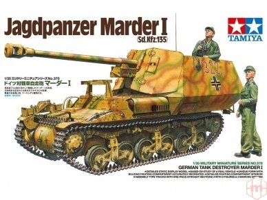 Tamiya - German Tank Destroyer Marder I Sd, Kfz. 135, Scale: 1/35, 35370
