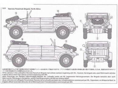 Tamiya - German Kübelwagen Type 82 Ramcke Parachute Brigade, Scale: 1/35, 35304 3