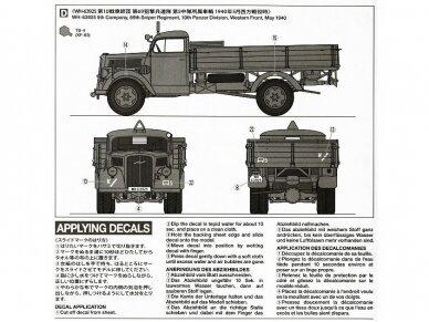 Tamiya - German 3ton 4x2 Cargo Truck, Scale: 1/35, 35291 4