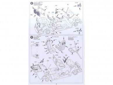 Tamiya - Peugeot 206 WRC, Mastelis: 1/24, 24221 12