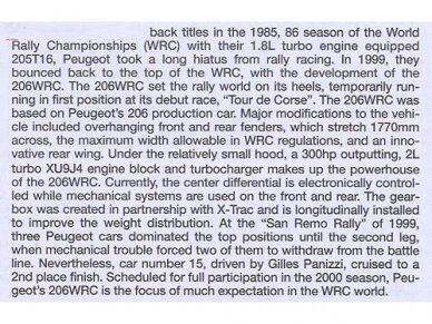 Tamiya - Peugeot 206 WRC, Mastelis: 1/24, 24221 7