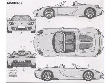 Tamiya - Porsche Carrera GT, Mastelis: 1/24, 24275 8