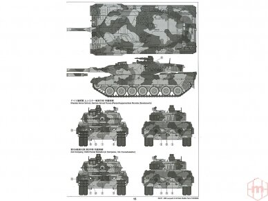 Tamiya - Main Battle Tank Leopard 2A6, Mastelis: 1/35, 35271 8