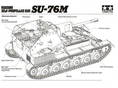Tamiya - Russian Self-Propelled Gun SU-76M, Mastelis: 1/35, 35348 5
