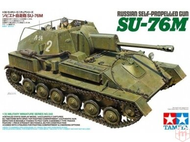 Tamiya - Russian Self-Propelled Gun SU-76M, Mastelis: 1/35, 35348