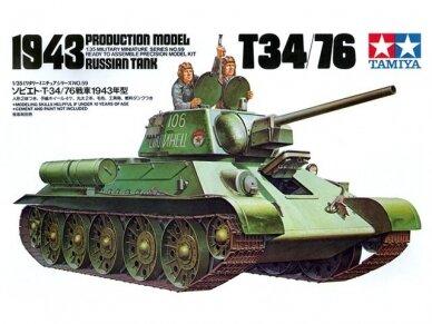 Tamiya - Russian Tank T-34/76, Mastelis: 1/35, 35059