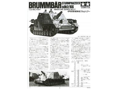 Tamiya - Sturmpanzer IV Brummbär, Scale:1/35, 35077 2