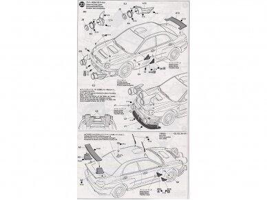 Tamiya - Subaru Impreza 2001 GB rally, Mastelis: 1/24, 24250 17