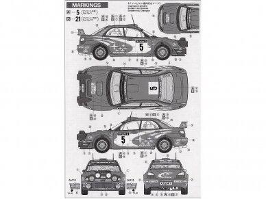 Tamiya - Subaru Impreza 2001 GB rally, Mastelis: 1/24, 24250 8