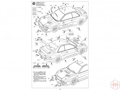 Tamiya - Subaru Impreza WRC '99, Mastelis: 1/24, 24218 15