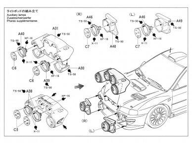 Tamiya - Subaru Impreza WRC '99, Mastelis: 1/24, 24218 16