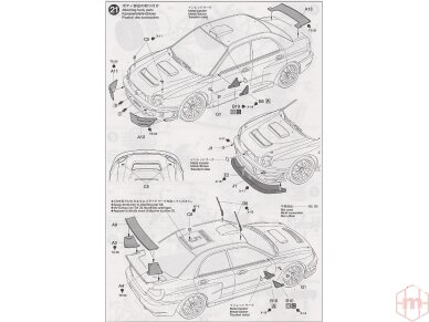 Tamiya - Subaru Impreza WRC Monte Carlo 2001, Scale: 1/24, 24240 16