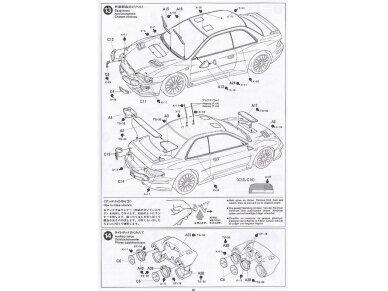 Tamiya - Subaru Impreza WRC Monte Carlo 98, Mastelis: 1/24, 24199 14