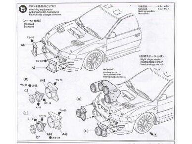 Tamiya - Subaru Impreza WRC Monte Carlo 98, Mastelis: 1/24, 24199 15