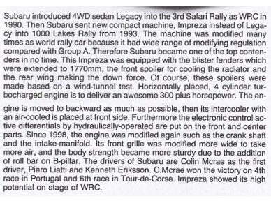 Tamiya - Subaru Impreza WRC Monte Carlo 98, Mastelis: 1/24, 24199 3