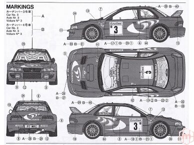 Tamiya - Subaru Impreza WRC Monte Carlo 98, Mastelis: 1/24, 24199 7