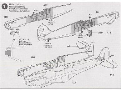 Tamiya - Supermarine Spitfire Mk.I, Mastelis: 1/72, 60748 7