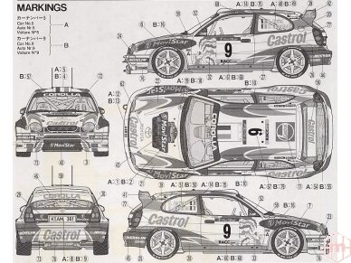 Tamiya - Toyota Corolla WRC, Scale: 1/24, 24209 7