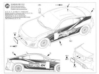 Tamiya - Toyota GAZOO Racing TRD GT86 2013 TRD Rally challenge + carbon, Mastelis: 1/24, 24337 20