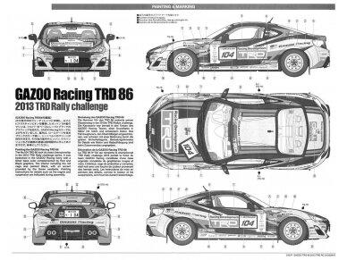 Tamiya - Toyota GAZOO Racing TRD GT86 2013 TRD Rally challenge + carbon, Mastelis: 1/24, 24337 10