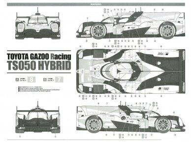 Tamiya - TOYOTA GAZOO Racing TS050 Hybrid, Mastelis: 1/24, 24349 10