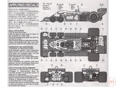 Tamiya - Tyrrell P34 1977 Monaco GP, Mastelis: 1/20, 20053 10