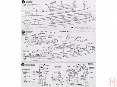 Tamiya - U.S. Battleship Missouri, Mastelis: 1/700, 31613 11