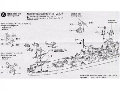 Tamiya - U.S. Battleship Missouri, Mastelis: 1/700, 31613 14