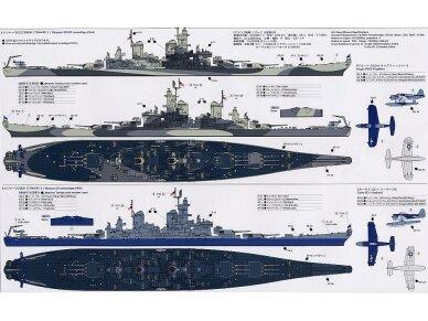 Tamiya - U.S. Battleship Missouri, Mastelis: 1/700, 31613 10