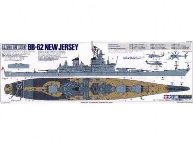 Tamiya - U.S. Battleship New Jersey, Mastelis: 1/700, 31614 7