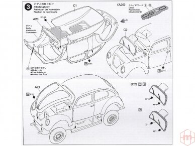 Tamiya - Volkswagen Type 82E, Mastelis: 1/48, 32531 9