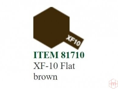 Tamiya - XF- Flat acrylic Mini paint, 10ml 12